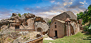 """Pictures & images of Sivisli (St Anargitios) Church, 9th century,  the Vadisi Monastery Valley, """"Manastır Vadisi"""",  of the Ihlara Valley, Guzelyurt , Aksaray Province, Turkey. .<br /> <br /> If you prefer to buy from our ALAMY PHOTO LIBRARY  Collection visit : https://www.alamy.com/portfolio/paul-williams-funkystock/vadisi-monastery-valley-turkey.html<br /> <br /> Visit our TURKEY PHOTO COLLECTIONS for more photos to download or buy as wall art prints https://funkystock.photoshelter.com/gallery-collection/3f-Pictures-of-Turkey-Turkey-Photos-Images-Fotos/C0000U.hJWkZxAbg"""