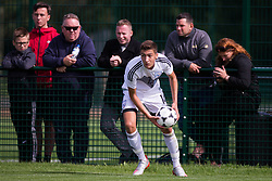WREXHAM, WALES - Thursday, August 15, 2019: Cyprus' Constantinos Panteli during the UEFA Under-15's Development Tournament match between Cyprus and Malta at Colliers Park. (Pic by Paul Greenwood/Propaganda)