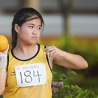 Cornelia Ho of Victoria Junior College finished fifth in the A Division Girls Finals with a final distance of 8.31m. (Photo © Stefanus Ian/Red Sports)