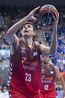 San Pablo Burgos Goran Huskic during Liga Endesa match between San Pablo Burgos and Gipuzkoa Basket at Coliseum Burgos in Burgos, Spain. December 30, 2017. (ALTERPHOTOS/Borja B.Hojas)
