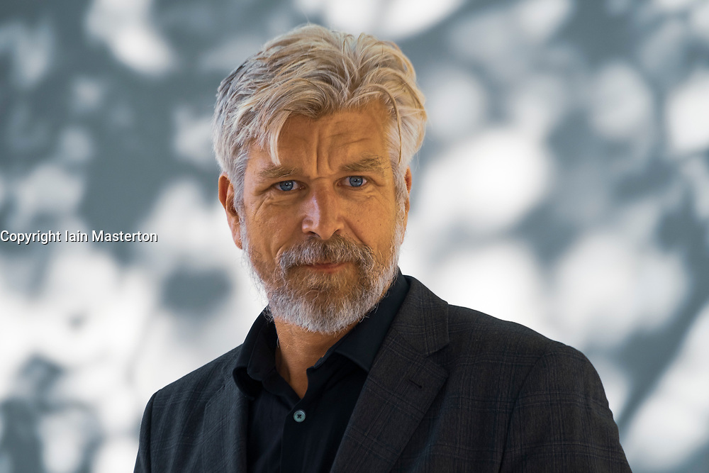 "Edinburgh, Scotland, UK. 25 August, 2018. Pictured; Karl Ove Knausgaard is widely regarded as one of the world's finest living writers and is at the Festival as a Festival headliner to launch the English translation of the final book ""The End"", in his autobiographical series; My Struggle""."