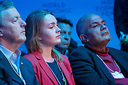 Participants in the Stakeholder dialogue; Shaping the Future of Energy and Materials session at the World Economic Forum Annual Meeting 2020 in Davos-Klosters, Switzerland, 22 January. Congress Centre - Aspen 1 Room. Copyright by World Economic Forum/ Greg Beadle