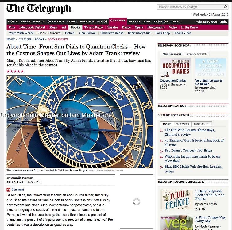 The Telegraph; Historic clock in Prague