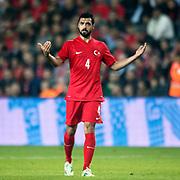 Turkey's Bekir Irtegun during their a international friendly soccer match Turkey betwen Brazil at Sukru Saracoglu Arena in istanbul November 12, 2014. Photo by Aykut AKICI/TURKPIX