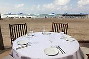 Israel, Tel Aviv, a seaside cafe and restaurant