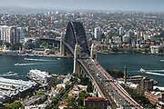 Open Sydney presented by Sydney Living Museuems. This event every year allows Sydneysiders to visit 40 of the city's most significant buildings and spaces across the CBD.Views of Sydney Harbour Bridge  from One International Towers, Sydney.