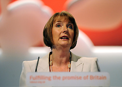 © Licensed to London News Pictures. 26/09/2011. LONDON, UK. Harriet Harman at The Labour Party Conference in Liverpool today (26/09/11). Photo credit:  Stephen Simpson/LNP