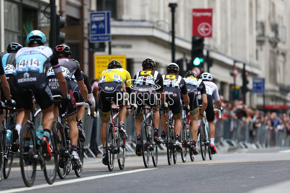 Team MTN-Qhubeka during the London Stage of the Aviva Tour of Britain, Regent Street, London, United Kingdom on 13 September 2015. Photo by Ellie Hoad.