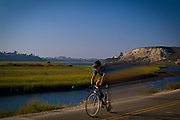 Riding Bikes in Newport Beach Back Bay
