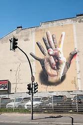Street art on building in Kreuzberg District of Berlin Germany