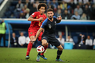 Olivier Giroud of France and Axel Witsel of Belgium during the 2018 FIFA World Cup Russia, Semi Final football match between France and Belgium on July 10, 2018 at Saint Petersburg Stadium in Saint Petersburg, Russia - Photo Thiago Bernardes / FramePhoto / ProSportsImages / DPPI