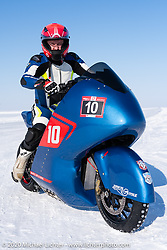 Evgeniy Pyatigorskiy on the 2019 BMW K1600GT racer at the Baikal Mile Ice Speed Festival. Maksimiha, Siberia, Russia. Friday, February 28, 2020. Photography ©2020 Michael Lichter.