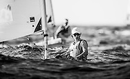 The 2015 Laser Women's Radial World Championship. Mussanah. Oman. November 18-26 November. Day 3 of racing - Lijia Xu (CHN)<br /> Image licensed to Lloyd Images