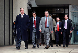12 February 2014. New Orleans, Louisiana. <br /> Federal prosecutors leave court after the trial of Ray Nagin, former mayor of New Orleans. The former mayor was found guilty on 20 of 21 corruption charges, convicted on 1 count of conspiracy, 5 counts of bribery, 9 counts of wire fraud, 1 count of money laundering and 4 counts of filing a false tax return.<br /> Photo; Charlie Varley