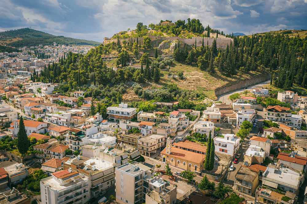 Aerial view of Lamia, Greece