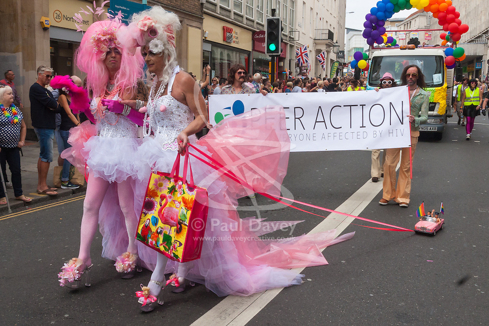 Brighton, August 2nd 2014. Brighton shows pride in its large and diverse LGBT commuity.