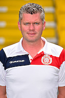 20150626 - LOKEREN, BELGIUM: Lokeren's physiotherapist Tom Geerinck pictured during the 2015-2016 season photo shoot of Belgian first league soccer team Sporting Lokeren, Friday 26 June 2015 in Lokeren. BELGA PHOTO LUC CLAESSEN