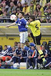 20-10-2012 VOETBAL: BORUSSI DORTMUND - FC SCHALKE 04: DORTMUND<br /> Klaas-Jan Huntelaar en Sebastian Kehl<br /> ***NETHERLANDS ONLY***<br /> ©2012-FotoHoogendoorn.nl/Oliver Vogler