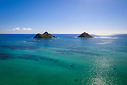 Mokulua Islands, Lanikai, Kailua, Oahu, Hawaii