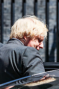 Britain's Prime Minister Boris Johnson leaves 10 Downing Street in London on Wednesday, June 24, 2020,  to attend Prime Minister's Questions at the Houses of Parliament. (Photo/ Vudi Xhymshiti)