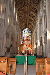 Seeing It Differently - helter skelter installed inside Norwich Cathedral, UK August 2019.