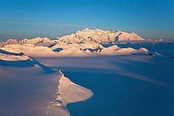 Mount Logan in the St. Elias Icefields, Kluane National Park, Yukon