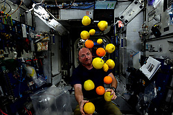 March 2, 2016 - Earth Atmosphere - Astronaut Scott Kelly posted this photo taken inside the International Space Station after a cargo delivery of fresh fruits and vegetables on Instagram with the caption, TuesdayTransformation Enjoying the fruits of labor, literally. YearInSpace zeroG fresh fruit ISSCargo HTV5 spacefood space. (Credit Image: ? Scott Kelly/NASA via ZUMA Wire/ZUMAPRESS.com)