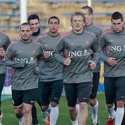 NLD/Katwijk/20110321 - Training Nederlandse Elftal Hongarije - NLD, Wesley Sneijder, Dirk Kuyt,