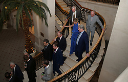 Guests making their way to the FWA Footballer of the Year Dinner at The Landmark Hotel, London. PRESS ASSOCIATION Photo. Picture date: Thursday May 18, 2017. Photo credit should read: Steven Paston/PA Wire.