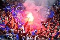 Supporters Bastia    - 11.04.2015 -  Bastia / PSG - Finale de la Coupe de la Ligue 2015<br />Photo : Dave Winter / Icon Sport
