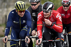 December 15, 2017 - Majorca, SPAIN - Belgian Jens Keukeleire and German Andre Greipel of Lotto Soudal pictured in action during a press day during Lotto-Soudal cycling team stage in Mallorca, Spain, ahead of the new cycling season, Friday 15 December 2017. BELGA PHOTO DIRK WAEM (Credit Image: © Dirk Waem/Belga via ZUMA Press)