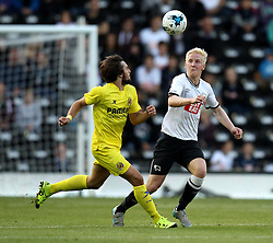 Derby County's Will Hughes battles for the ball - Mandatory by-line: Robbie Stephenson/JMP - 07966386802 - 29/07/2015 - SPORT - FOOTBALL - Derby,England - iPro Stadium - Derby County v Villarreal CF - Pre-Season Friendly
