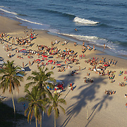 A beach scene on Ipanema beach, Rio de Janeiro,  Brazil. 12th July 2010. Photo Tim Clayton..