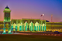 Al-Emiri Diwan The palace of the Emir of the State of Qatar at night