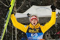 06.01.2012, Paul Ausserleitner Schanze, Bischofshofen, AUT, 60. Vierschanzentournee, FIS Ski Sprung Weltcup, Podium, im Bild Thomas Morgenstern (AUT, Rang 1) Jubel // first place Thomas Morgenstern of Austria Celebrate on Podium during 60th Four-Hills-Tournament FIS World Cup Ski Jumping at Paul Ausserleitner Schanze, Bischofshofen, Austria on 2012/01/06. EXPA Pictures © 2012, PhotoCredit: EXPA/ Johann Grod