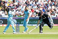 Cricket - 2019 ICC Cricket World Cup - Group Stage: England vs. NZ<br /> <br /> Kane Williamson of New Zealand narrowly avoids being run out, at the Riverside, Chester-le-Street, Durham.<br /> <br /> COLORSPORT/BRUCE WHITE