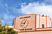 Closeup of the Clock on the Los Angeles Maritime Museum in the Port of Los Angeles