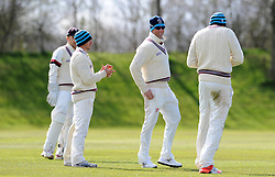 Somerset's Marcus Trescothick is all smiles in the slips - Photo mandatory by-line: Harry Trump/JMP - Mobile: 07966 386802 - 24/03/15 - SPORT - CRICKET - Pre Season Fixture - Day 2 - Somerset v Glamorgan - Taunton Vale Cricket Club, Somerset, England.