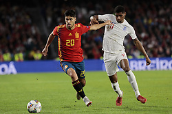 Spain's Marcos Asensio and England's Marcus Rashford during UEFA Nations League 2019 match between Spain and England at Benito Villamarin stadium in Sevilla, Spain. October 15, 2018. Photo by A. Perez Meca/Alterphotos/ABACAPRESS.COM