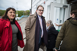 © Licensed to London News Pictures . 16/02/2017. Stoke-on-Trent, UK. RUTH SMEETH and GARETH SNELL arrive . Hustings in Stoke-on-Trent Central by-election at the Quality Hotel in Stoke , for local businesses with Lib Dem candidate Dr Zulfiqar Ali, Conservative candidate Jack Brereton,  Labour candidate Gareth Snell and, in place of UKIP candidate Paul Nuttall who didn't turn up , Patrick O'Flynn . Photo credit: Joel Goodman/LNP