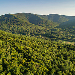 The view south from Red Mountain in Arlington, Vermont.
