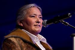 Iqaluit Mayor Elisapee Sheutiapik speaking at gala event at the 2010 Vancouver Olympics
