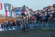 2019-12-27 Cycling: dvv verzekeringen trofee: Loenhout: Ceylin del Carmen Alvarado leading from the start to the finish
