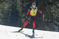 Johannes Thingnes Bö of Norway during the IBU World Championships Biathlon 20km Individual Men competition on February 17, 2021 in Pokljuka, Slovenia. Photo by Primoz Lovric / Sportida