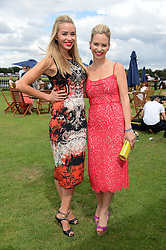 Left to right, NOELLE RENO and  MARISSA HERMER at the Boujis hospitality at the Audi International Polo at Guards Polo Windsor Great Park, Egham, Surrey on 28th July 2013.