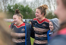 Amelia Buckland-Hurry of Bristol Ladies in post-match huddle - Mandatory by-line: Paul Knight/JMP - 03/02/2018 - RUGBY - Cleve RFC - Bristol, England - Bristol Ladies v Harlequins Ladies - Tyrrells Premier 15s