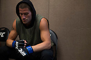 LAS VEGAS, NV - JULY 8:  Joshua Stansbury waits in the locker room before The Ultimate Fighter Finale at MGM Grand Garden Arena on July 8, 2016 in Las Vegas, Nevada. (Photo by Cooper Neill/Zuffa LLC/Zuffa LLC via Getty Images) *** Local Caption *** Joshua Stansbury