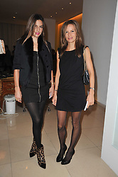 Left to right, sisters ZARA SIMON and JESSICA SIMON at a Burns Night dinner in aid of cancer charity CLIC Sargent held at St.Martin's Lane Hotel, London on 25th January 2011.