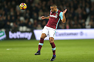 Winston Reid of West Ham United in action. Premier league match, West Ham Utd v Manchester city at the London Stadium, Queen Elizabeth Olympic Park in London on Wednesday 1st February 2017.<br /> pic by John Patrick Fletcher, Andrew Orchard sports photography.