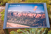 Interpretive sign at the Kolob Canyons Visitor Center, Zion National Park, Utah